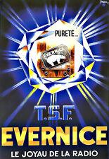 Art Ad Evernice 1936 TSE Le Joyau de la Radio  Deco  Poster Print