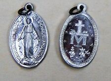Catholic Miraculous Mary Medal  Gift Silver Tone Metal 7/8""