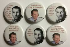 """Married With Children Al Bundy Quotes  Lot of 6 1 1/4"""" Pinback Buttons"""