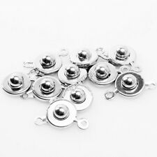 60x 161321 Wholesale Plated Rhodium Copper Clasp Bails Charms Button Findings
