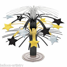 19cm Elegant Hollywood Black Gold Star Party Mini Cascade Centrepiece Decoration
