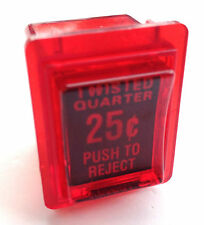 COIN DOOR REJECT BUTTON FOR HAPP / IL & TWISTED QUARTER DOORS  IN  RED