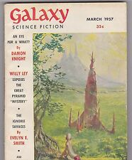 MARCH 1957 GALAXY - science fiction  pulp magazine - WILLY LEY