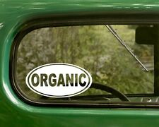 2 ORGANIC DECALs Oval Natural Food Sticker For Bumper Car Truck Window Laptop Rv
