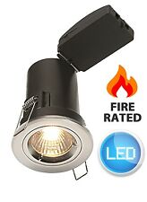 Polished Chrome Die Cast Fire Rated LED GU10 Ceiling Spot Downlights 2.5W Bulbs