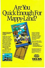 Vintage 1989 Taxan MAPPY MAPPY-LAND Nintendo NES video game print ad page