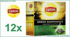 Full Pack Lipton Discovery Collection Green Gunpowder Tea 240 Tea Bags x12 Boxes