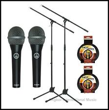 AKG Perception Series Vocal Microphone with Pro Boom Stand + XLR cables 2 pack