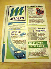 PUBBLICITA' ADVERTISING WERBUNG 1990 AUTO METANO (Q420)