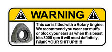 "WARNING DECAL ""ROTARY"" SIZE 100MM BY 40MM"