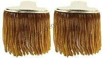 Gold Brass Bullion Shoulder Epaulettes with Fringe, Marching Band Epaulette