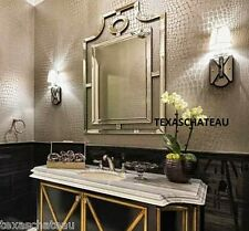 LARGE MODERN CHINESE CHIPPENDALE WALL MIRROR FRAMED BATHROOM VANITY STYLE DECOR