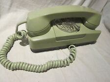 A/E-GTE Green Model 182 Rotary Dial Desk Telephone.