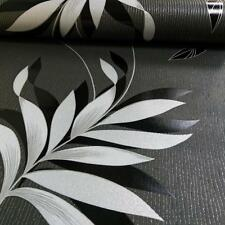 AS Creation Floral Leaf Wallpaper Embossed Glitter Stripe Motif Roll 325223