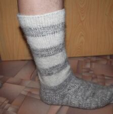 MEN's Long SOCKS Home Knitted 100% pure natural sheep WOOL FLEECE