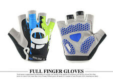 Fashion Bicycle Half Finger Silicone Cycling Gloves MTB Riding Sport Gloves Blue