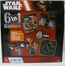 Star Wars 6 in 1 Games Collection Dominoes Battle Matching Bingo Starship Race +