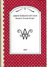 *AKRON OH 1995 WOMEN'S CITY CLUB COOK BOOK *MEMBERS FAVORITE RECIPES *OHIO *RARE