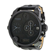 Diesel Time Zone Chronograph Black PVD Mens Watch DZ7193