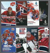 Montreal Canadiens, NHL Hockey Schedules  **Lot of 8**