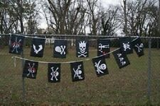 12x18 Jolly Roger Pirate Bunting Party Flags Banner (12 Flags 20 foot long)