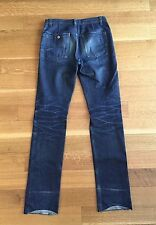 Yves Saint Laurent Paris YSL SLP Mens Raw Denim Jeans 32 x 36 $475 SICK FADES