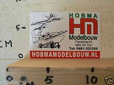 STICKER,DECAL HOBMA MODELBOUW ELST PLAIN,BOAT,FORMULA ONE