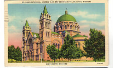 1932 postcard- St. Louis Cathedral, Lindell Blvd. and Newstead Ave. , St. Louis