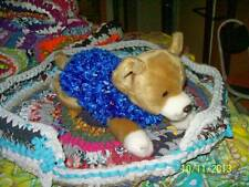 """POUTY PUPPY """"Upcycle PET BED"""" Soft COMFY ROOMY Multi-color Recycle"""