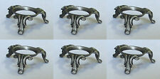 6 Pewter Queen Anne Hen Duck Goose Egg Stand Holder Display Stand Display LOT