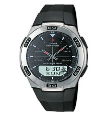 Casio WVA105HA-1AV Wave Ceptor Analog Digital Watch Black Dial