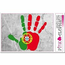 Portugal - Hand Palm Finger Print Aufkleber Flag Sticker Motiv Bandeira mao