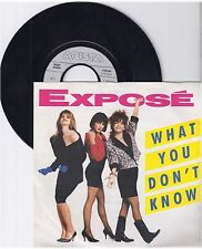 "Expose, What you don't know, VG/VG,  7"" Single 0999-70"