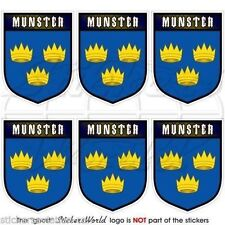 MUNSTER Province IRELAND Eire Shield Mobile Cell Phone Mini Decals, Stickers x6