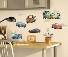 Disney Cars 2 Wall Decal Sticker Removable Peel & Stick Decor Set of 25 Decals