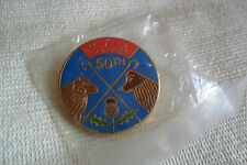 S.C.A.50th Scottish Crookmakers Association,Thistle pin lapel badge,free u.k.p&p