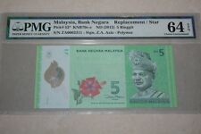 (PL) RM 5 ZA 0002311 PMG 64 EPQ 3 ZERO LOW NUMBER ZETI REPLACEMENT UNC