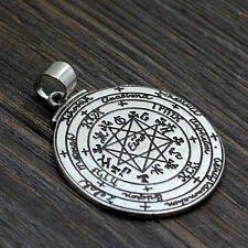Amule Pagan Sun Talisman Key Solomon Pendant Seventh Pentacle of Saturn Necklace