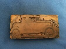 Antique FORD MODEL A Copper Newspaper Printing Plate Cabriolet 1932 Deuce Coupe