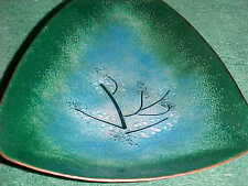 SIGNED ARPAD ROSTI MODERN MIDCENTURY ENAMEL COPPER ART TRAY ABSTRACT FREE-FORM !