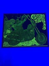 Vintage Clean Machine Black Light Poster Motorcycle 1970's Original 18x22