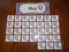 May Month of the Year Calendar Cards.  Daycare supplies and accessories.