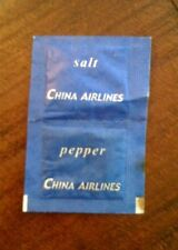 China Airlines Vintage Salt & Pepper packets One pack New collector item