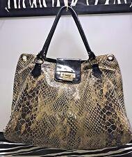 Miss Mak Design Python Embossed Leather Shoulder Satchel Tote Bag Purse Montreal