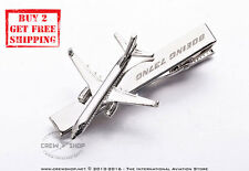 A Brand New BOEING 737 NG Silver Plated Next Generation Necktie Tie Clasp Clips