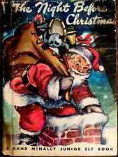 THE NIGHT BEFORE CHRISTMAS ~ Vintage Children's Junior Elf Book