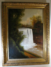 ANTIQUE AMERICAN OIL PAINTING by THOMAS J. HILL, 19th c., N.Y.