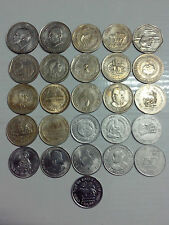 All 26 Different  Commemorative Coins 1 Rupee