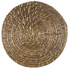 Round 35cm Rattan Bamboo Serving Mat Dining Table Centre Piece Placemat Setting