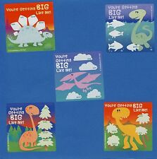 15 Dinosaur I've Grown - Height and Weight - Large Stickers - Party Favors